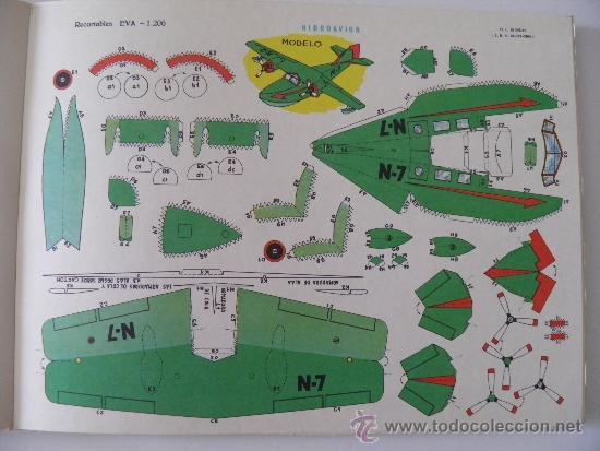 RECORTABLES EVA 1206. HIDROAVIÓN. AÑO 1965. CARTULINA 30 X 22 CM. (Coleccionismo - Recortables - Transportes)
