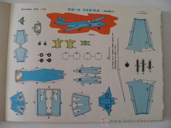 RECORTABLES EVA 1208. AVIÓN TS-2 ISKRA (POLONIA). AÑO 1965. CARTULINA 30 X 22 CM. (Coleccionismo - Recortables - Transportes)