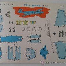 Coleccionismo Recortables: RECORTABLES EVA 1208. AVIÓN TS-2 ISKRA (POLONIA). AÑO 1965. CARTULINA 30 X 22 CM.. Lote 36976341