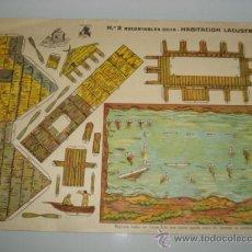 Coleccionismo Recortables: ANTIGUA HOJA RECORTABLES . Nº 2 RECORTABLES GOYA .HABITACIÓN LACUSTRE DEL AÑO 1920S.. Lote 37577990