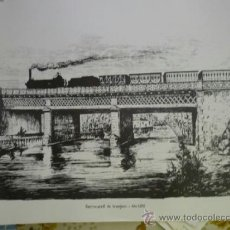 Coleccionismo Recortables: LAMINA POSTER MUSEO NACIONAL FERROVIARIO .-DIBUJO FERROCARRIL ARANJUEZ 1851-CARTULINA. Lote 38506290
