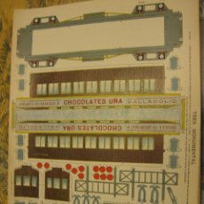 Coleccionismo Recortables: TREN MONUMENTAL - CHOCOLATES UÑA.. Lote 151643405