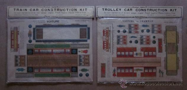 TRAIN Y TROLLEY CAR CONSTRUCTION KIT (Coleccionismo - Recortables - Transportes)