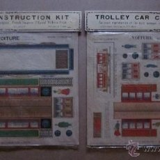 Coleccionismo Recortables: TRAIN Y TROLLEY CAR CONSTRUCTION KIT. Lote 40896604