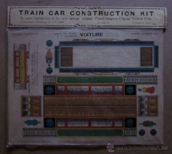 Coleccionismo Recortables: TRAIN Y TROLLEY CAR CONSTRUCTION KIT - Foto 2 - 40896604