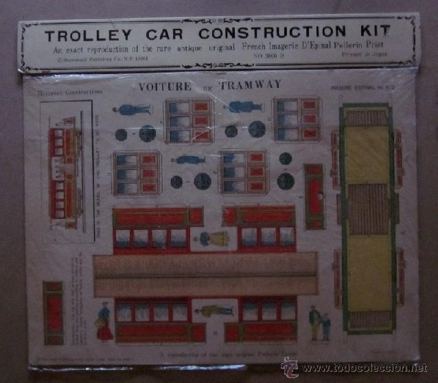 Coleccionismo Recortables: TRAIN Y TROLLEY CAR CONSTRUCTION KIT - Foto 3 - 40896604