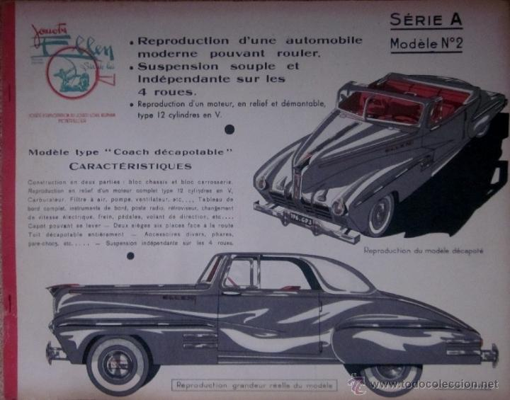 Coleccionismo Recortables: REPRODUCTION DUNE AUTOMOBILE DECAPOTABLE - SERIE A - MODELE Nº 2 - Foto 2 - 41502083