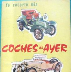 Coleccionismo Recortables: ALBUM COCHES DEL AYER Nº 1 RECORTABLES RAKER CON 6 COCHES PARA RECORTAR EN CARTON DURO. 1965 . Lote 41235299