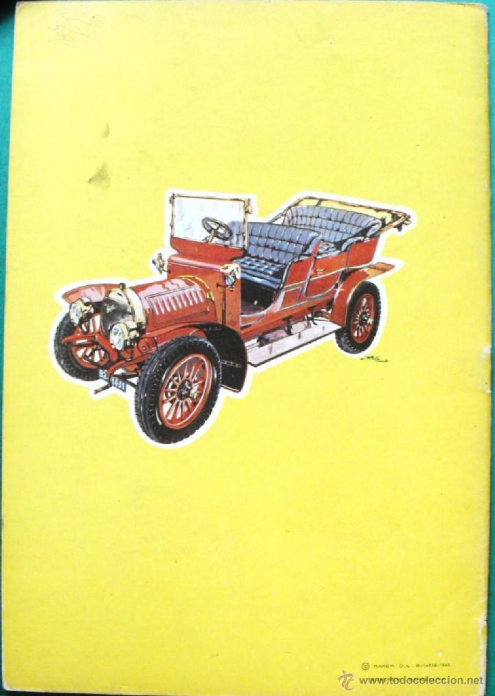 Coleccionismo Recortables: ALBUM COCHES DEL AYER Nº 1 RECORTABLES RAKER CON 6 COCHES PARA RECORTAR EN CARTON DURO. 1965 - Foto 4 - 41235299
