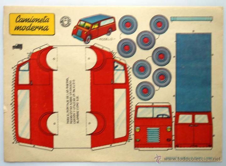 RECORTABLE BRUGUERA. EDICION DEL AÑO 1959. CAMIONETA MODERNA. (Coleccionismo - Recortables - Transportes)