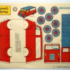 Coleccionismo Recortables: RECORTABLE BRUGUERA. EDICION DEL AÑO 1959. CAMIONETA MODERNA.. Lote 43764904