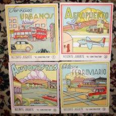 Coleccionismo Recortables: LOTE DE 4 NUMEROS RECORTE JUGUETE (EL CONSTRUCTOR) EDITORIAL ROMA. BARCELONA, 1960. Lote 45634357