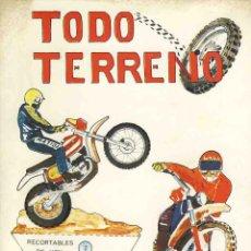 Coleccionismo Recortables: RECORTABLE DE EDICIONES BAUSAN: MOTOS TODO TERRENO. EDITADO EN 1979, 4 HOJAS. Lote 46035567
