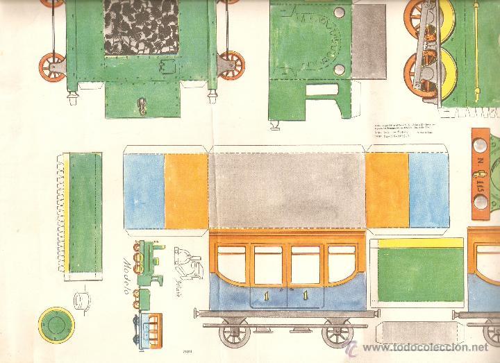 Coleccionismo Recortables: TRENES RECORTABLES AÑOS 60 - Foto 2 - 46562959
