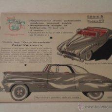 Coleccionismo Recortables: GRAN RECORTABLE FRANCÉS DE UN AUTOMÓVIL DE LA ÉPOCA – 6 HOJAS – JOUETS ELLEN. Lote 47536285