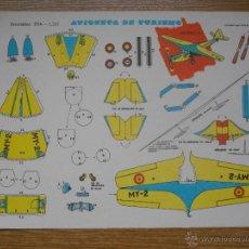 Coleccionismo Recortables: RECORTABLES EVA REF. 1203 AVIONETA DE TURISMO. AÑO 1965. 30 X 22 CMS. Lote 48449824