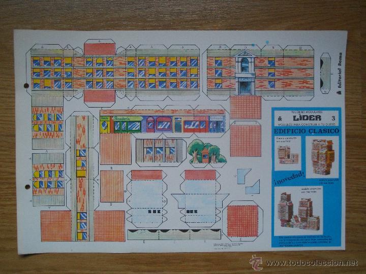 RECORTABLES MODULARES LIDER - Nº 3 - EDIFICIO CLASICO - EDITORIAL ROMA - AÑO 79 (Coleccionismo - Recortables - Transportes)
