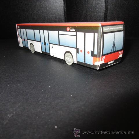 AUTOBUS DE BARCELONA RECORTABLE (Coleccionismo - Recortables - Transportes)