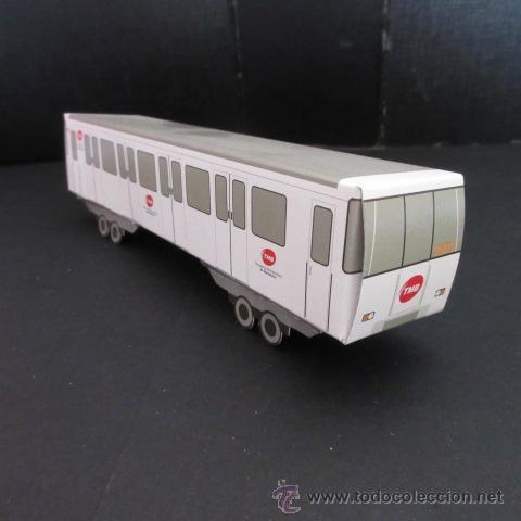 FERROCARRIL METROPOLITANO DE BARCELONA METRO RECORTABLE (Coleccionismo - Recortables - Transportes)