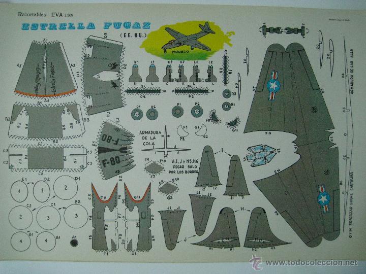 RECORTABLES EVA ESTRELLA FUGAZ (EE. UU.) 2209. 1965. (Coleccionismo - Recortables - Transportes)