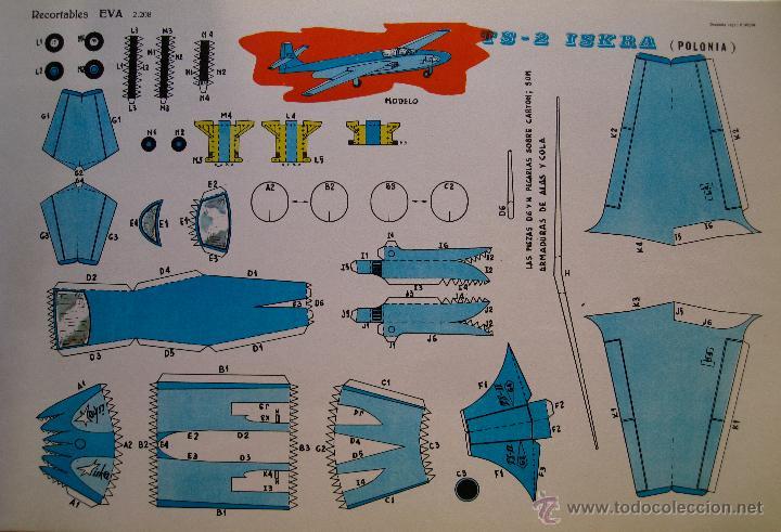 RECORTABLES EVA. TS-2 ISKRA (POLONIA) 2208. 1965. (Coleccionismo - Recortables - Transportes)