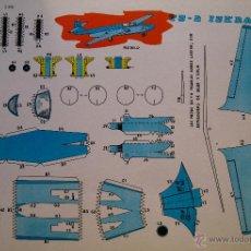 Coleccionismo Recortables: RECORTABLES EVA. TS-2 ISKRA (POLONIA) 2208. 1965.. Lote 51181923