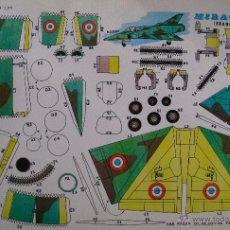 Coleccionismo Recortables: RECORTABLES EVA. MIRAGE S-R (FRANCIA) 2207. 1965.. Lote 132740659