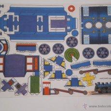 Coleccionismo Recortables: RECORTABLE MODELO MECANO-MOVIL .LAMINA DE 33 X 24 CMS . AÑOS 70 . EDITORA DESCONOCIDA .. Lote 125104312