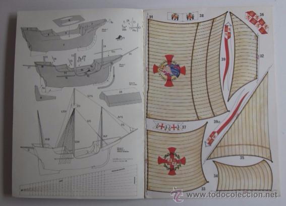 Coleccionismo Recortables: LA SANTA MARIA - CARABELA DE COLON, UNA SUPERMAQUETA PARA ARMAR - Foto 2 - 51930971