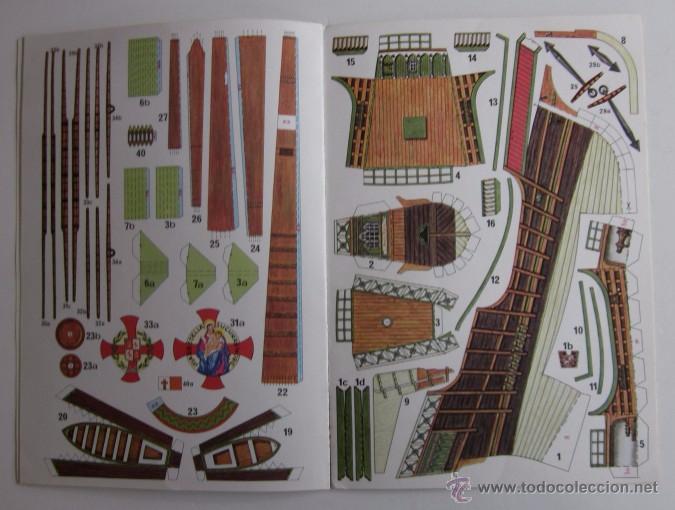 Coleccionismo Recortables: LA SANTA MARIA - CARABELA DE COLON, UNA SUPERMAQUETA PARA ARMAR - Foto 3 - 51930971