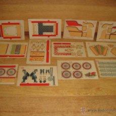 Coleccionismo Recortables: COLECCION DE 12 CROMOS PARA CONSTRUIR UN AUTOMOVIL - PAPEL DE FUMAR HIDALGUIA. Lote 51998650