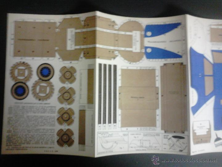 Coleccionismo Recortables: MOVIBLE- RECORTABLE CONSTRUCCION JUGUETE - NUM. 1 A - AUTOMOVIL RUEDAS GIRATORIAS - AZUL - (V-3511) - Foto 2 - 52639251