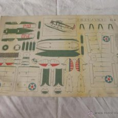 Coleccionismo Recortables: RECORTABLE DEL HIDROAVION B-6. GRAFICAS REUNIDAS SA. MADRID. Lote 53515178