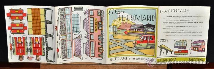Coleccionismo Recortables: ENLACE FERROVIARIO. RECORTE JUGUETE, EL CONSTRUCTOR. Nº 2. EDITORIAL ROMA (BARCELONA) - Foto 3 - 53561030