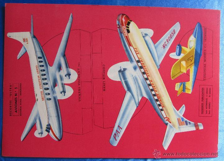 RECORTABLE AVIONES. RECORTES ULTRA Nº 5. EDITORIAL ROMA. BARCELONA, 1961. (Coleccionismo - Recortables - Transportes)