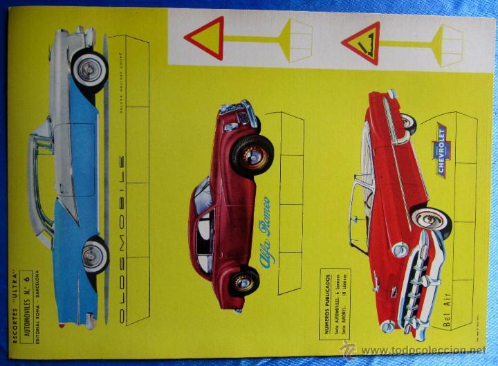 RECORTABLE AUTOMÓVILES. RECORTES ULTRA Nº 5. EDITORIAL ROMA. BARCELONA, 1961. (Coleccionismo - Recortables - Transportes)