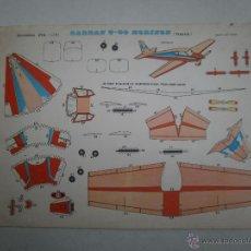 Coleccionismo Recortables: RECORTABLE EVA AVION GARDAN G-80 HORIZON FRANCIA. Lote 53851538