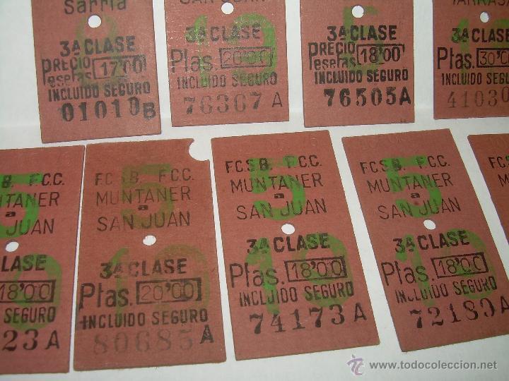 Coleccionismo Recortables: NUEVE BILLETES DE TREN. - Foto 3 - 54473495