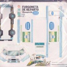 Coleccionismo Recortables: DANONE -- FURGONETA DE REPARTO. Lote 54585504