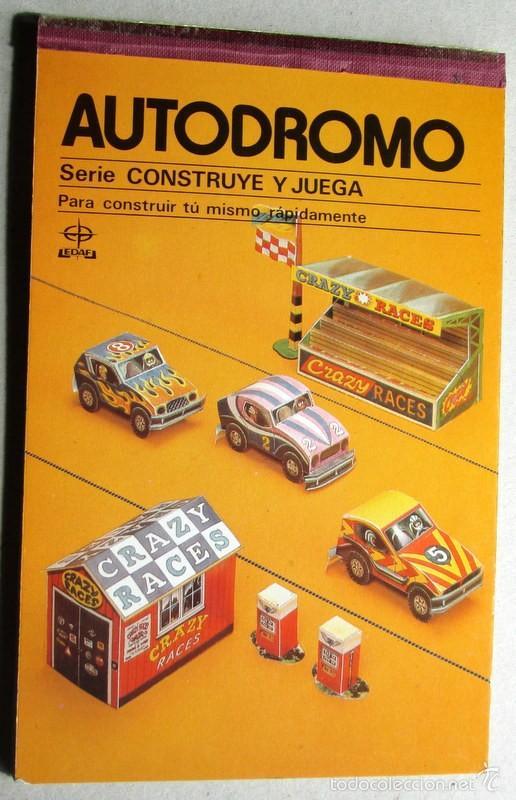 RECORTABLE DE COCHES AUTODROMO (Coleccionismo - Recortables - Transportes)
