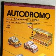 Coleccionismo Recortables: RECORTABLE DE COCHES AUTODROMO. Lote 56224135