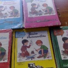 Coleccionismo Recortables: RECORTABLES YO SERE... LOTE 5 RECORTABLES EDITORIAL FHER DISTINTOS INGENIERO AERONAUTICO, TECNICO. Lote 56298487