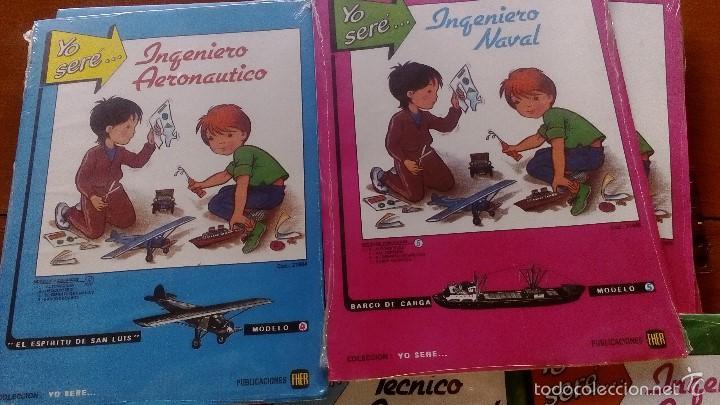 Coleccionismo Recortables: RECORTABLES YO SERE... LOTE 5 RECORTABLES EDITORIAL FHER DISTINTOS INGENIERO AERONAUTICO, TECNICO - Foto 3 - 56298487