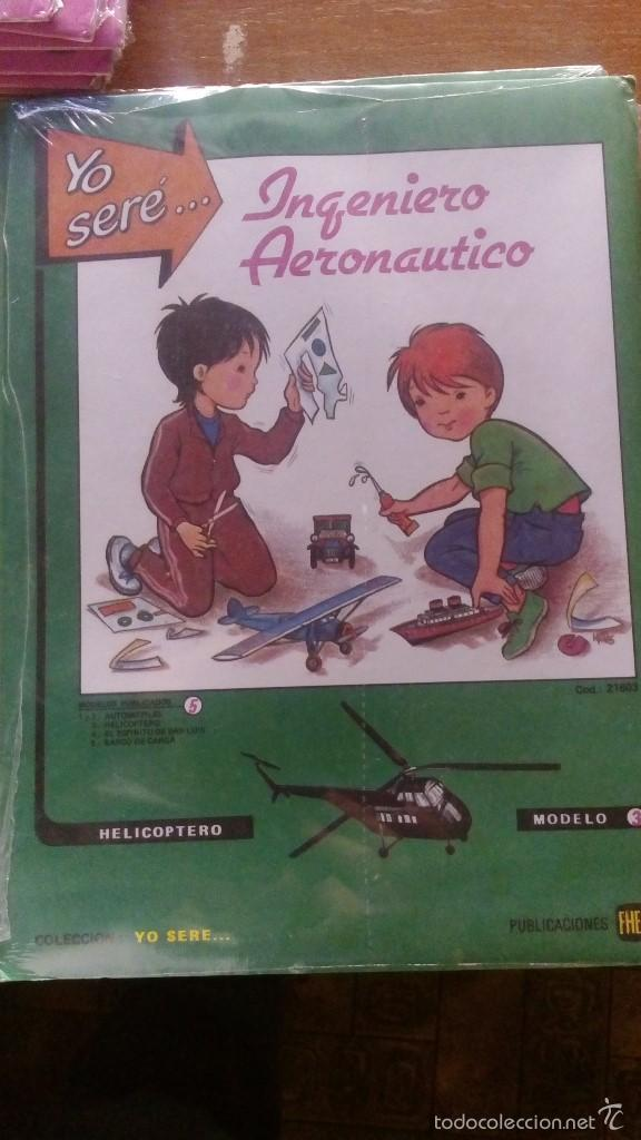 Coleccionismo Recortables: RECORTABLES YO SERE... LOTE 5 RECORTABLES EDITORIAL FHER DISTINTOS INGENIERO AERONAUTICO, TECNICO - Foto 4 - 56298487