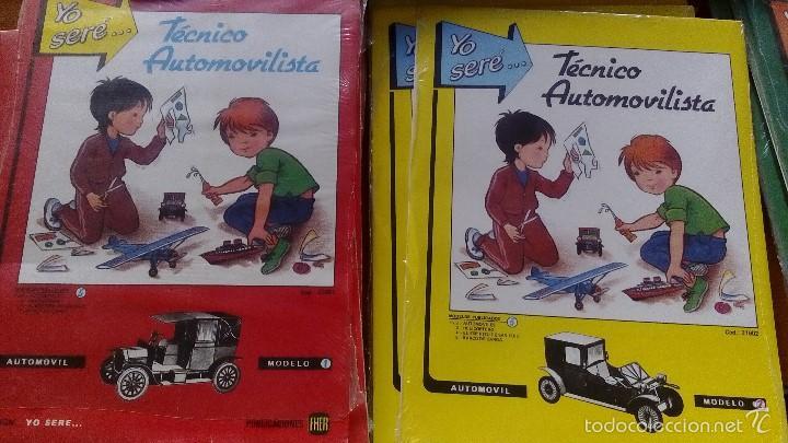 Coleccionismo Recortables: RECORTABLES YO SERE... LOTE 5 RECORTABLES EDITORIAL FHER DISTINTOS INGENIERO AERONAUTICO, TECNICO - Foto 5 - 56298487