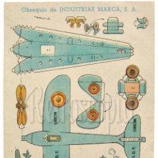 Coleccionismo Recortables: RECORTABLE PUBLICIDAD TINTES IBERIA NORIT DDT ORION INDUSTRIAS MARCA: AVION AEROPLANO AVIONETA. Lote 57043365