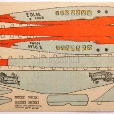 Coleccionismo Recortables: LAMINA RECORTABLE PUBLICIDAD EMULSION DE SCOTT MODELO AVION AVIONETA AÑOS 50. Lote 57044646