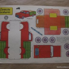 Coleccionismo Recortables: RECORTABLE CAMION LECHERO. AÑO 1959. BRUGUERA. Lote 57625285