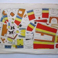 Coleccionismo Recortables: RECORTABLE AVIONETA - RECORTES ''PEQUE'' Nº 9 - CAZA NORTEAMERICANO GRUMMAN - F9F ''PANTHER'' 1968. Lote 57760188