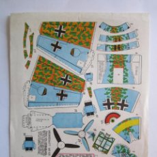 Collectables Paper Dolls - RECORTABLE AVIONETA - RECORTES ''PEQUE'' Nº 11 - MESSERCHMITT ME-109 1968 - 57760792